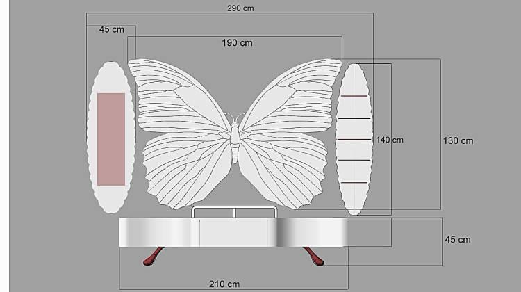 Kelebek Modelli Tv Ünitesi
