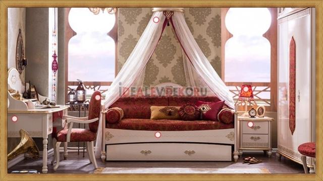 Çilek Mobilya Sultan Genç Kız Odası