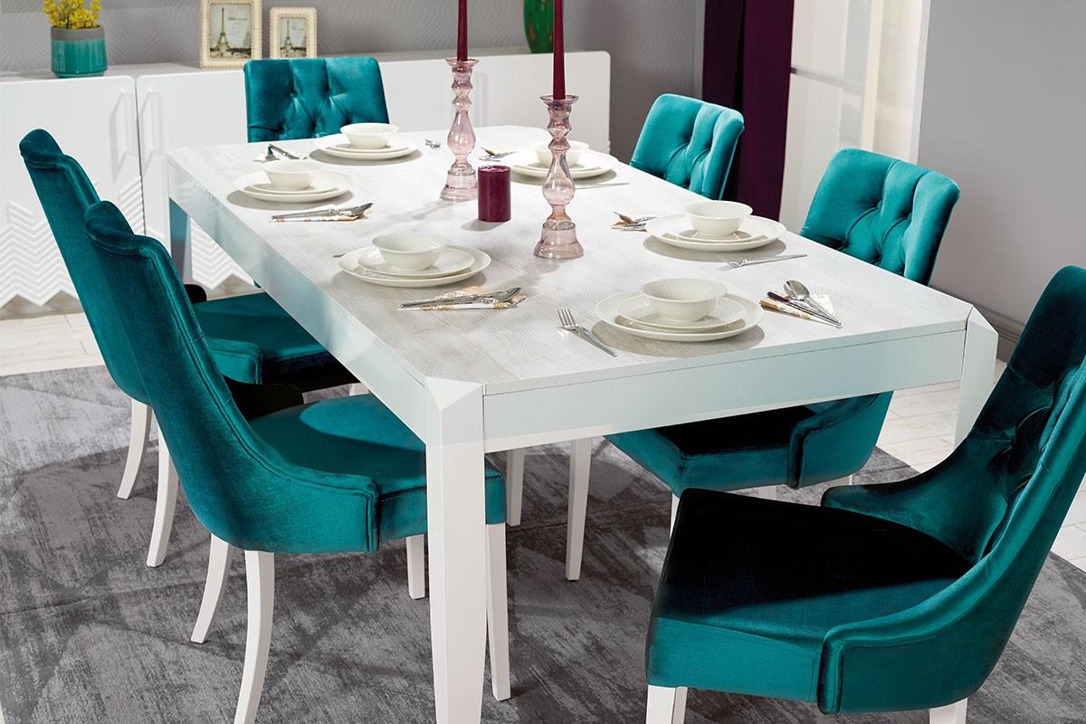 Aldora Mobilya Stripe Yemek Odası