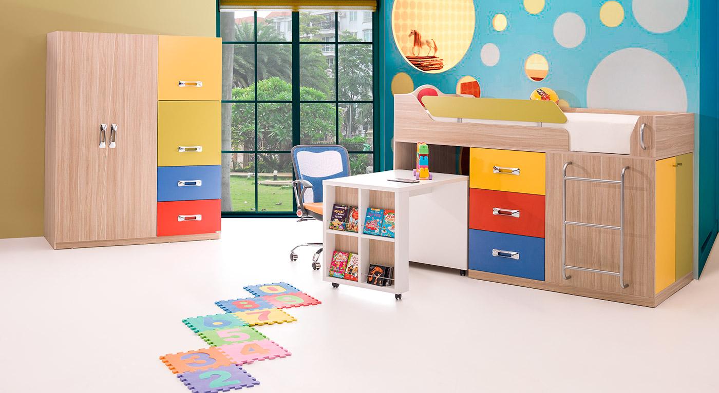 Rengarenk Mobilya Herrenk Genç Odası
