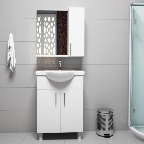Bauhaus Noya Lavabolu Banyo Dolabı