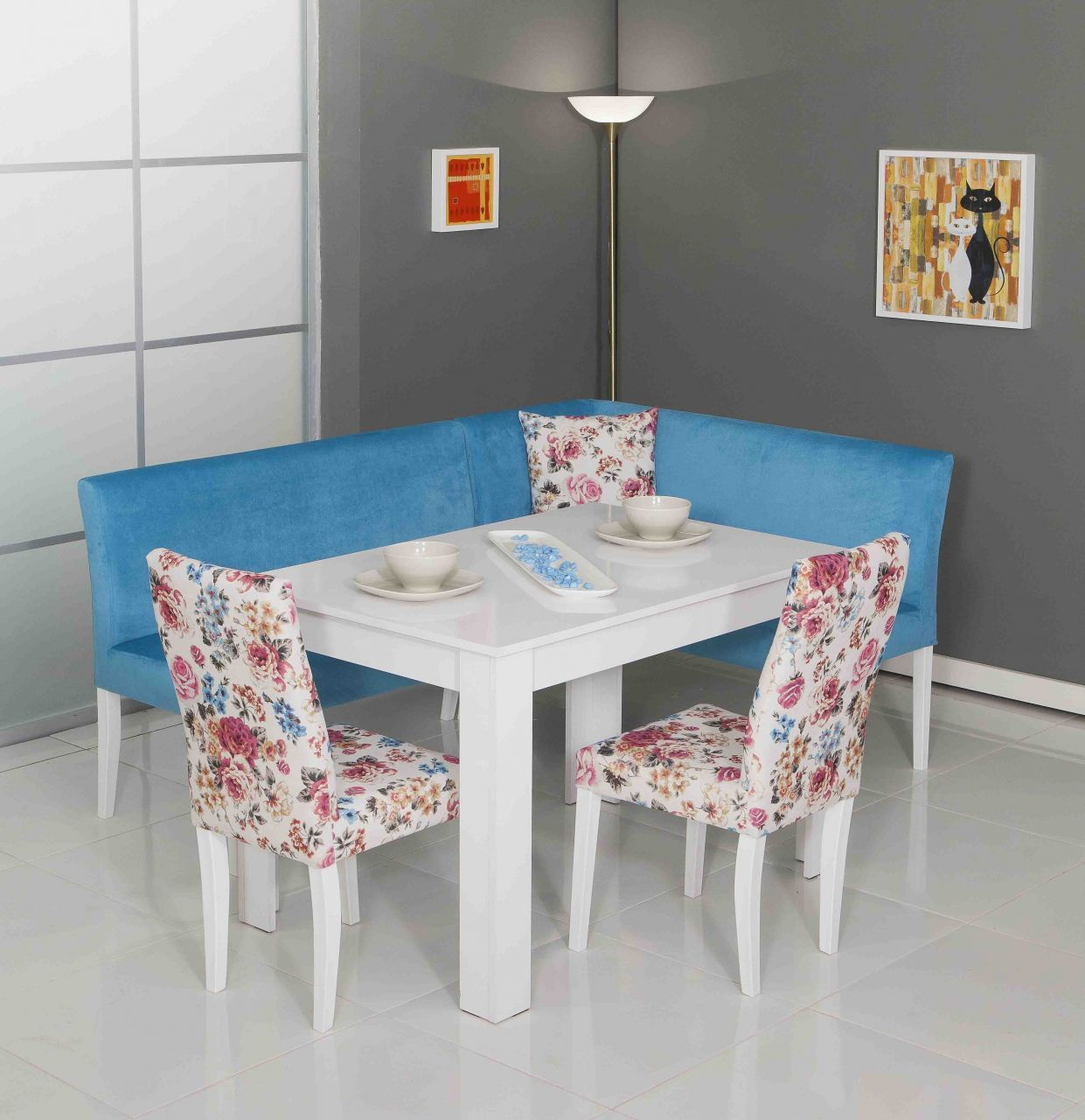 Modalife Mobilya Köşe Mutfak Masa Sandalye Takımı