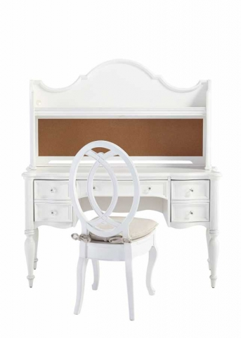 Kervan Mobilya Beyaz Çalışma Masası Sandalyesi
