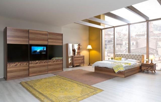 Odam Mobilya Sedef Televizyonlu Yatak Odasi