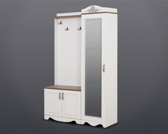 Gündoğdu Mobilya Beyaz Vestiyer Portmanto