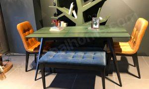Balhome Mobilya Açılır Kapanır Mutfak Masası Seti