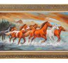 Kervan Mobilya Atlar Yağlı Boya Tablo