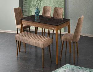 Esme Avm Mermer Mutfak Masa Sandalye Takımı