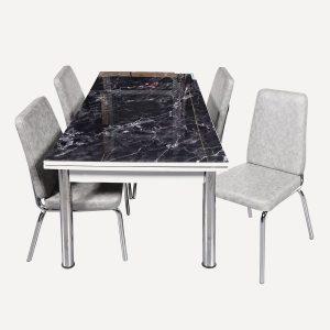 Mermer Desenli Mutfak Masası
