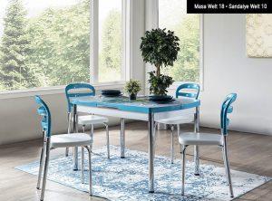 Weltew Mobilya Mutfak Masası ve Sandalye Seti